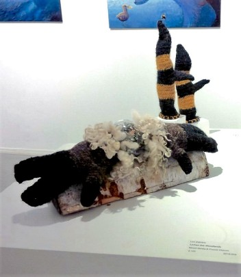Hand-Delivered Display at On Thin Ice Exhibition 2016, Cre8ery Gallery, Winnipeg